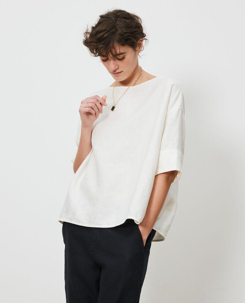 Loose linen top Gardenia Lordat