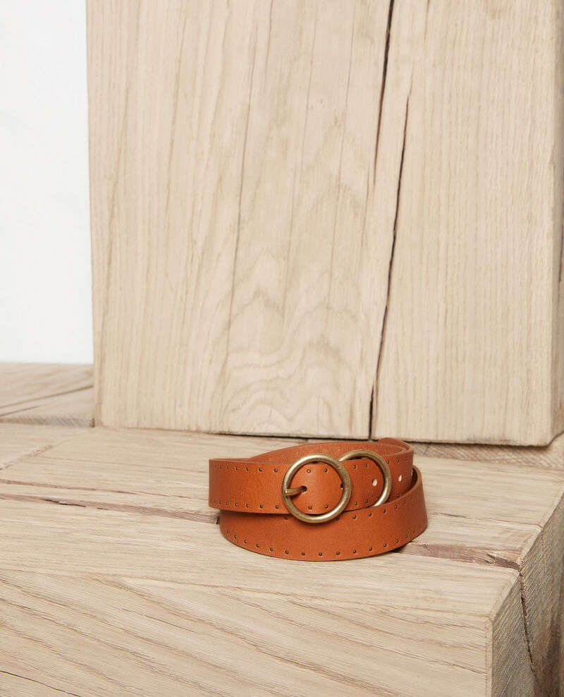 Leather belt Camel Jastud