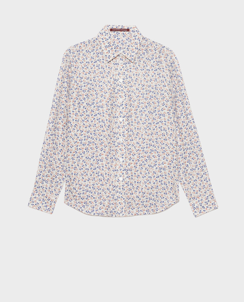 Printed silk shirt Clochette spicy Nabilo