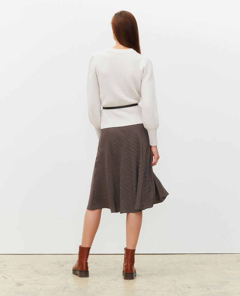 Silk skater skirt Little pois coffee bean Margireste