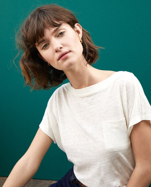 T-shirt with pocket White