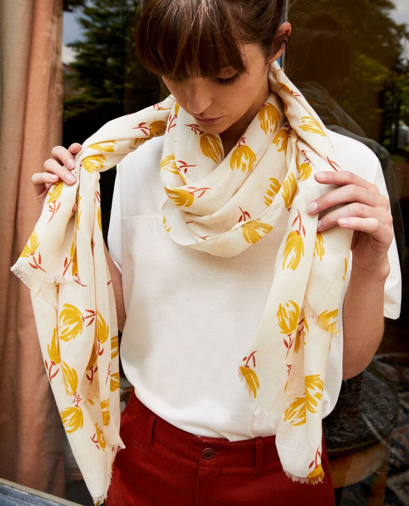 Printed scarf Tulip buttercream Julip