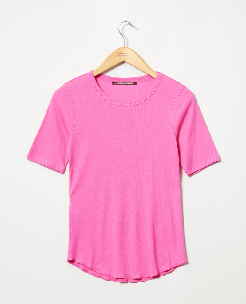 Ribbed t-shirt  Wild orchid Ibabie
