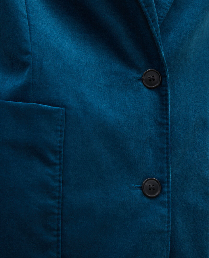 Two button corduroy blazer Blue coral Muscade