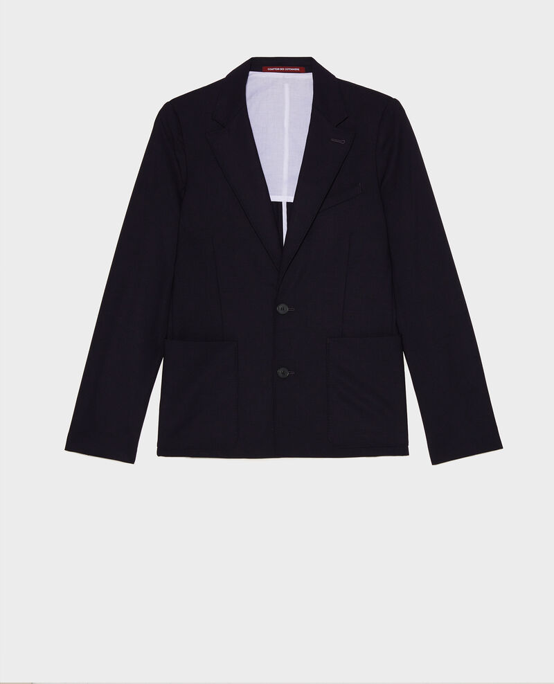 Wool blazer Dark navy Luscadi