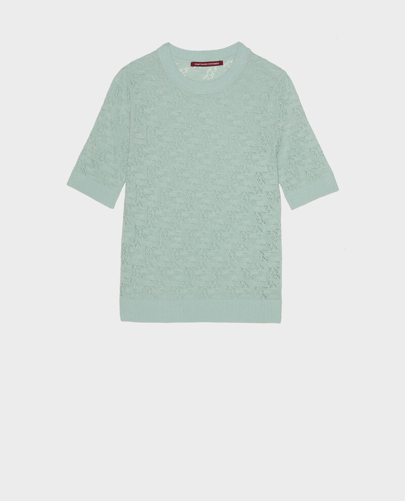 Linen and cotton jumper Blue haze Lagos