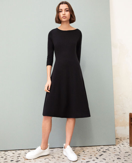 Wool dress NOIR