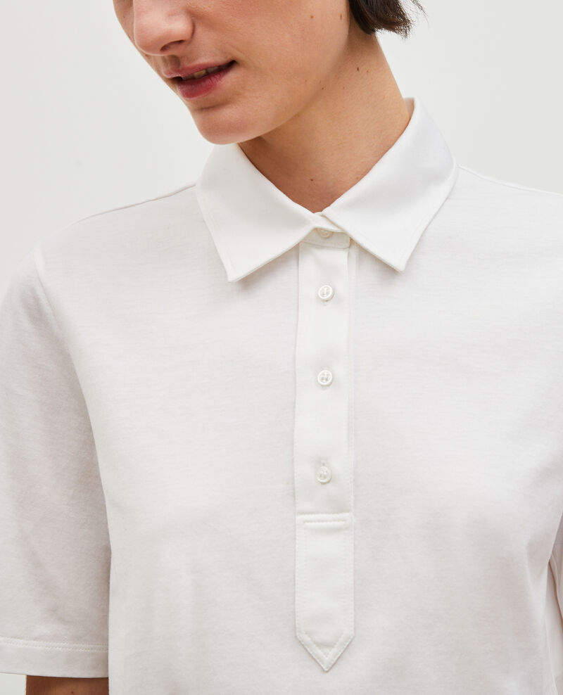 Egyptian cotton polo shirt Optical white Levas