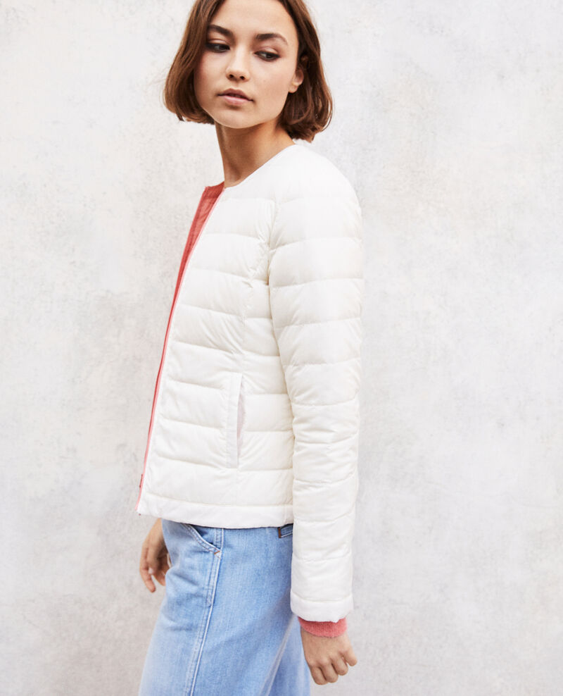Iconic Mademoiselle Plume down jacket Salmon pink/champagne Illopou