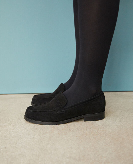 Suede mocassins Black