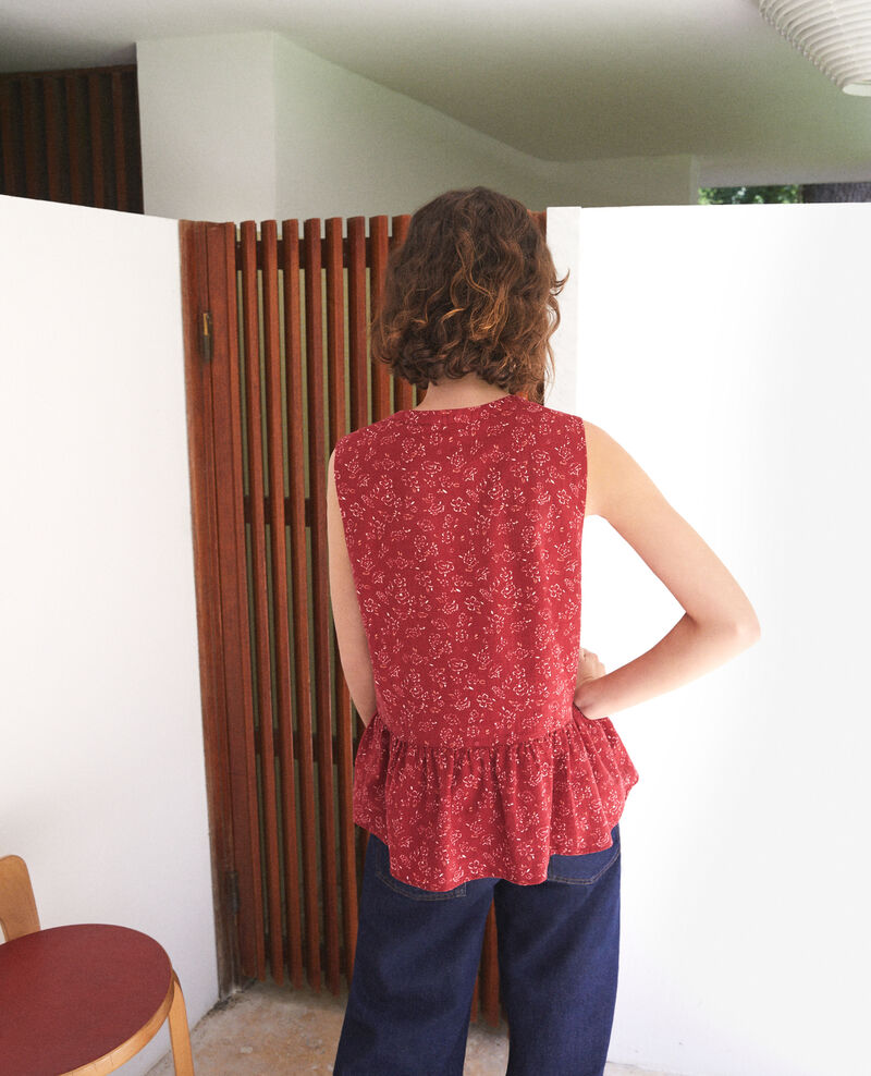 Sleeveless blouse Red Gascon