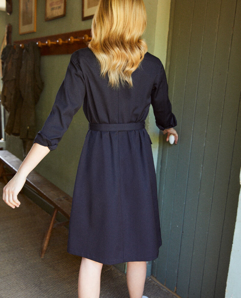 Plunge dress Dark navy Jimauve