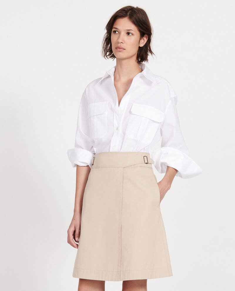 Cotton wrapover skirt Oxford tan Lyrtille