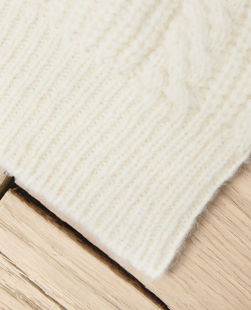 Cable-knit beanie Off white Jibonnet