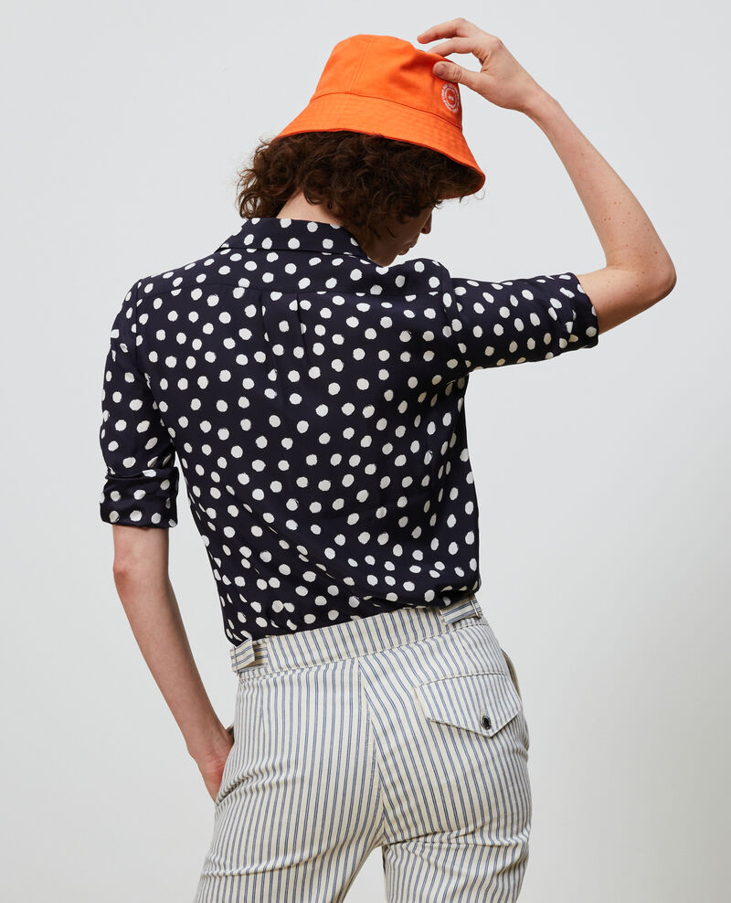 Printed silk shirt Big dots Nabilo