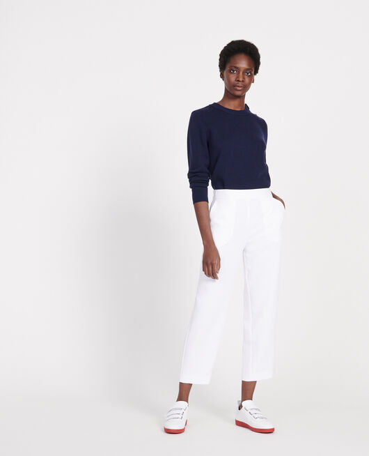 Straight-leg trousers OPTICAL WHITE