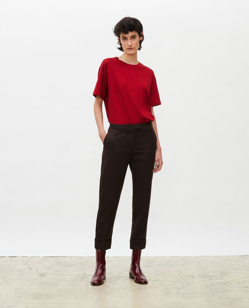 Oversize cotton t-shirt Royale red Maincy