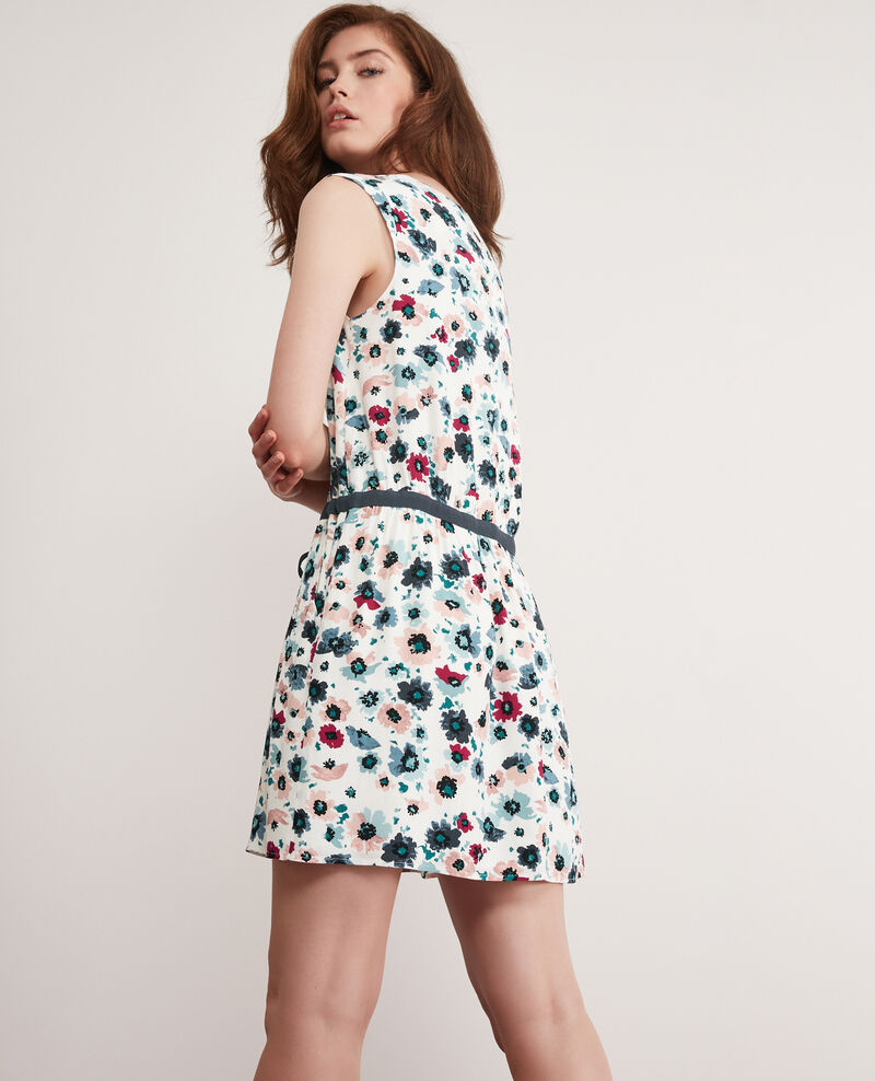 Printed dress Poppies off white Deso