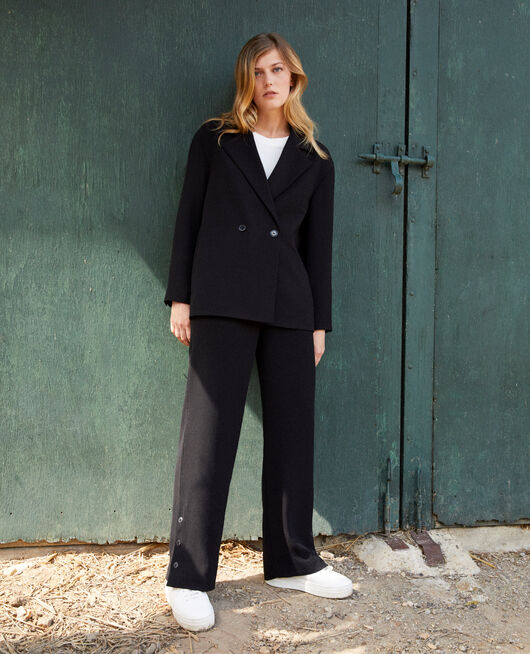 Trousers with button details NOIR