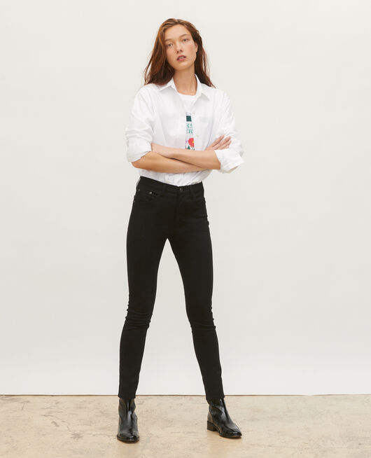Skinny 5 pocket jeans BLACK BEAUTY