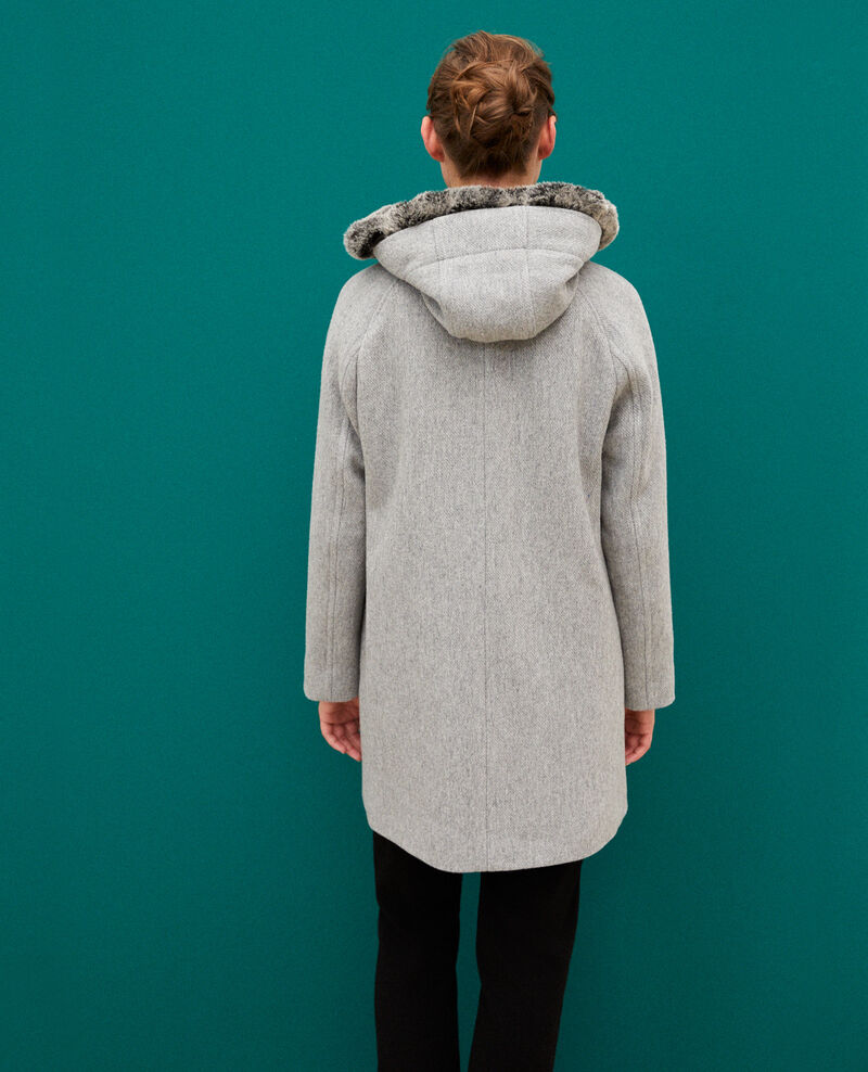 Hooded coat Light heather grey Gustin