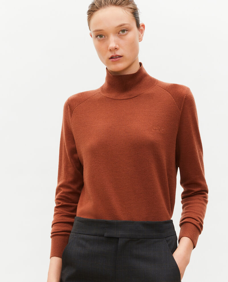 Turtleneck merino wool jumper Tortoise shell Malleville