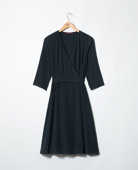 Silk wrap dress NOIR
