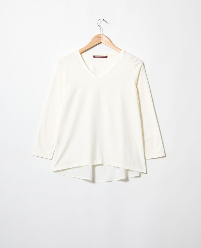 Bimaterial T-shirt Off white Ioko