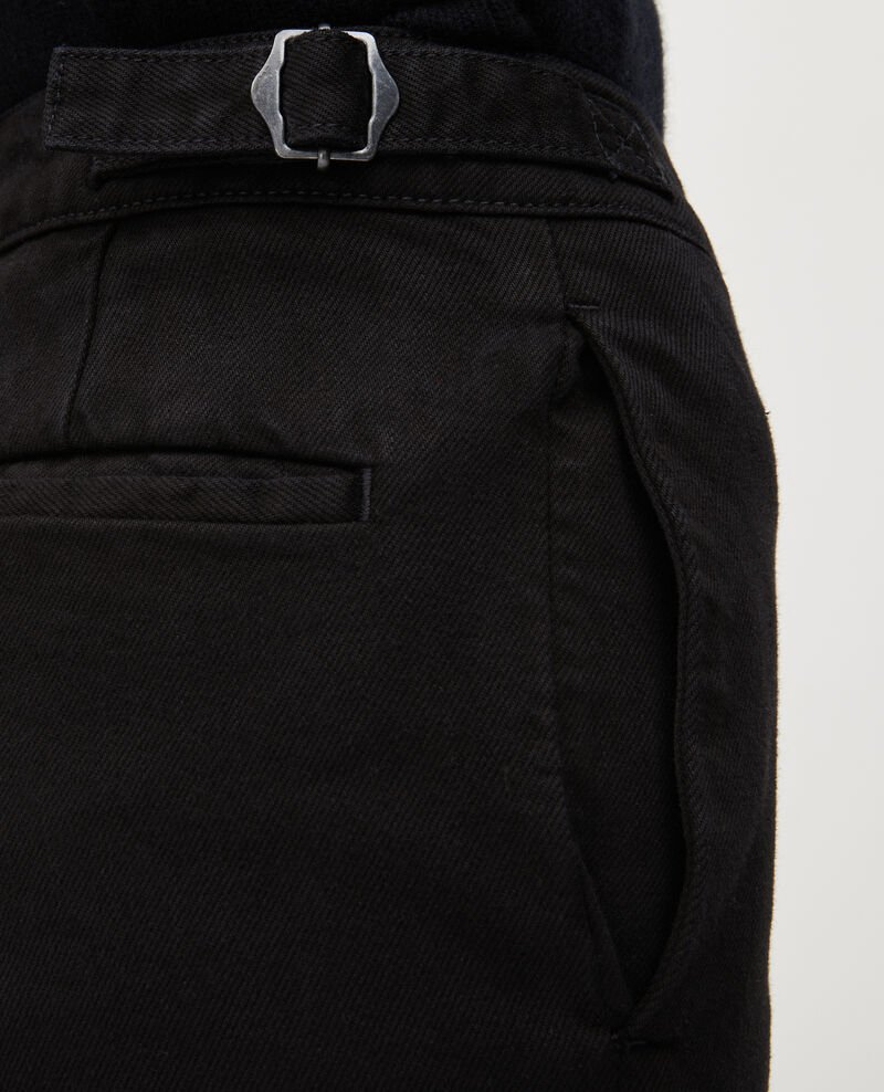 FLARE STRAIGHT - Slim fit black denim trousers Noir denim Mespaul