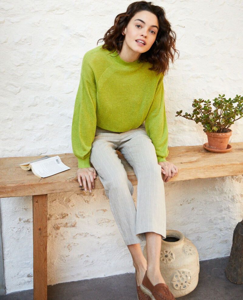 Turtleneck jumper Lime green Icote