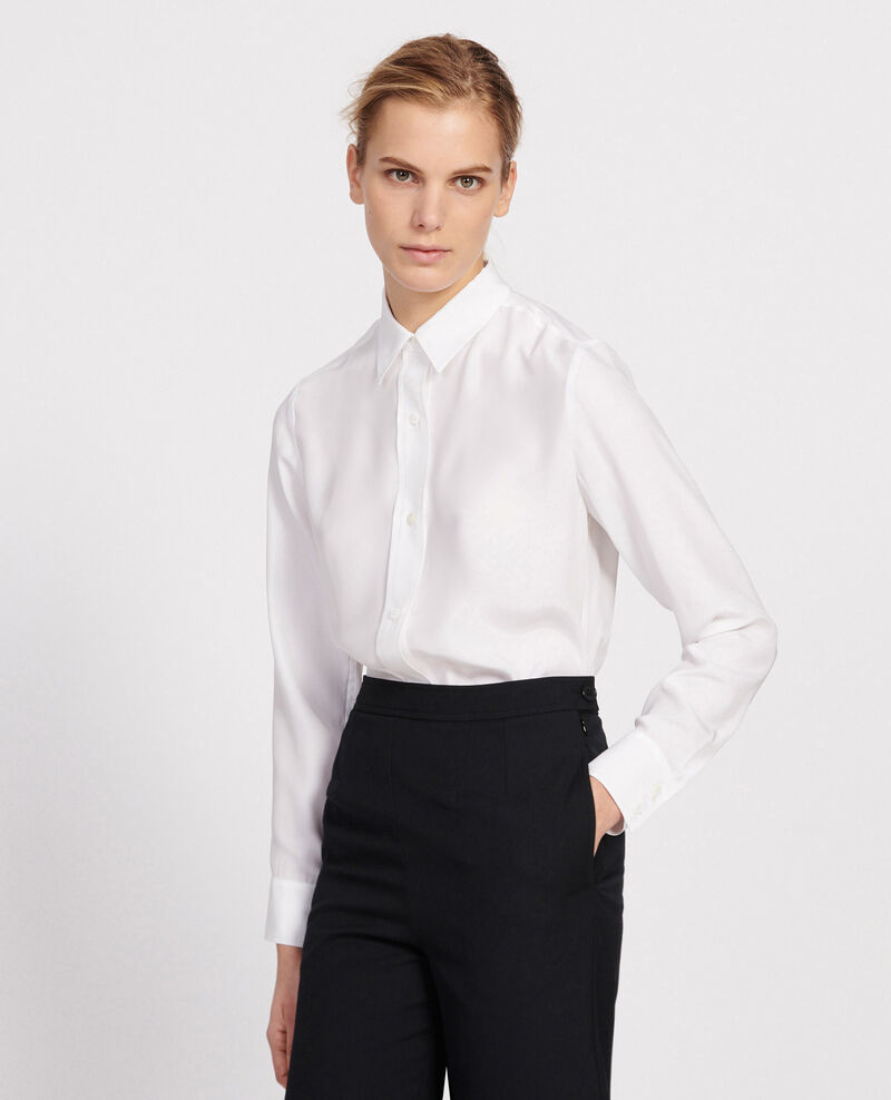 Silk shirt Optical white Loriges