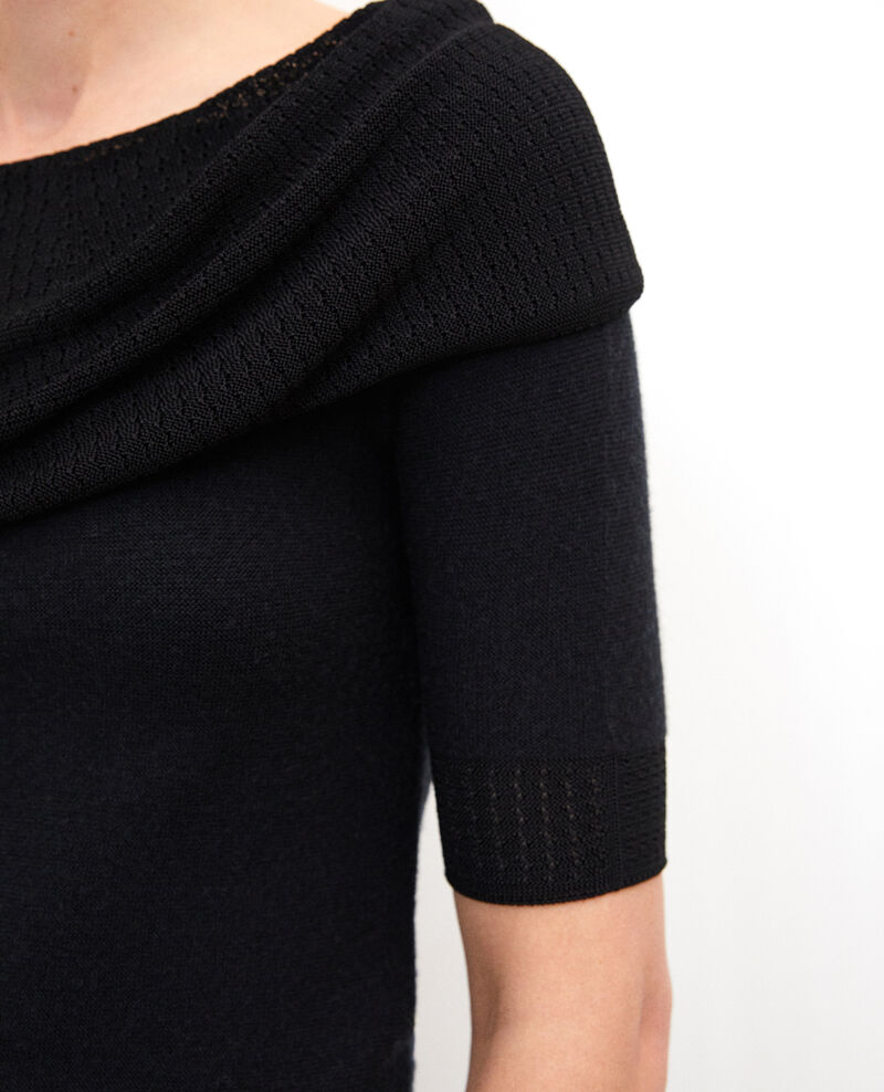 Wholegarment jumper  Black Giris
