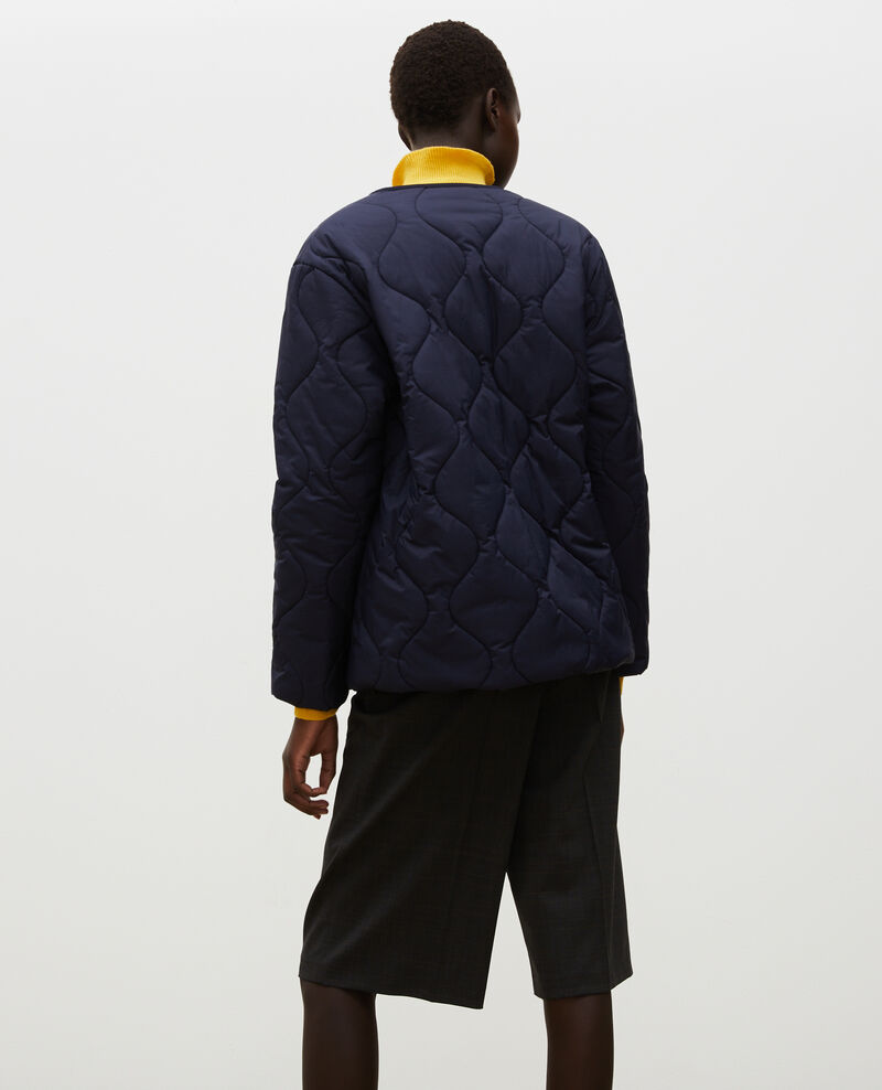 Oversize V-neck down jacket  Night sky Matra