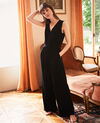 V-neck jumpsuit Noir Jept