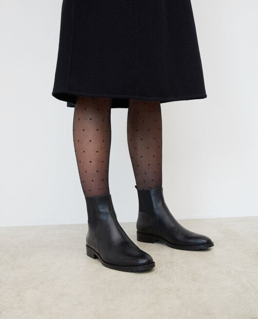 Dotted Swiss tights Black