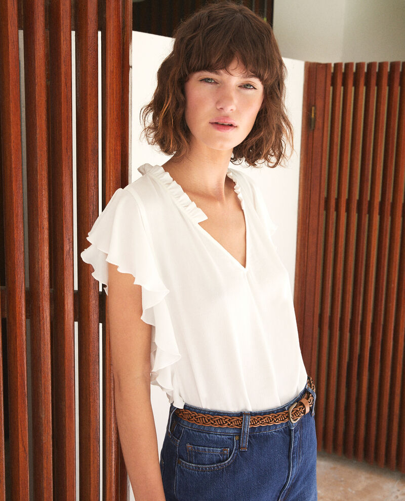 Frilly blouse White Fretillant