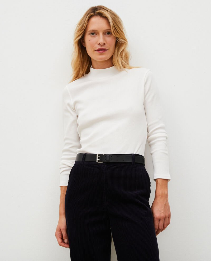 Long-sleeve stretch cotton jumper Jet stream Marval