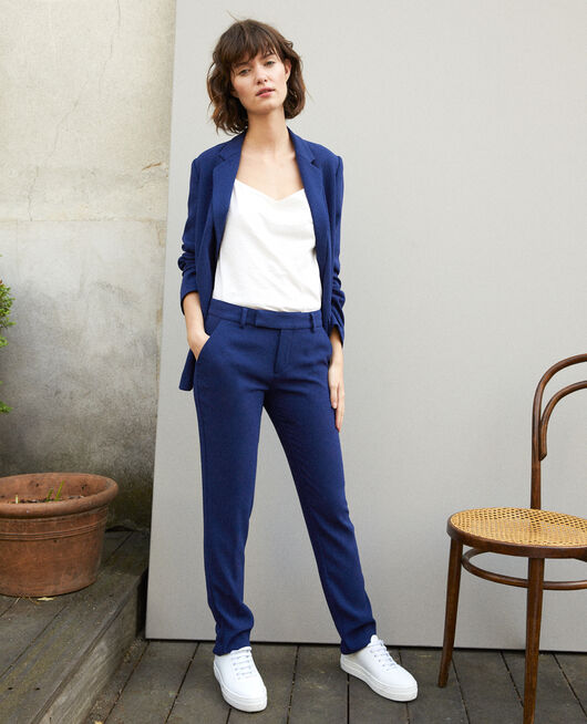 Suit-style trousers MEDIEVAL BLUE
