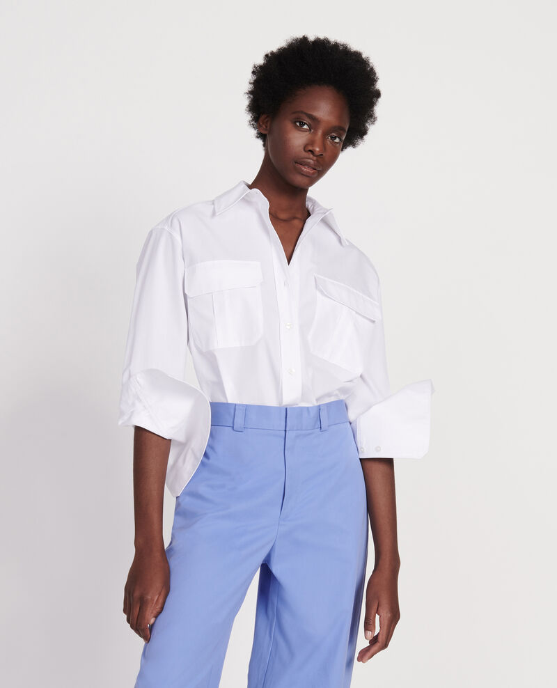 Cotton poplin shirt Optical white Lauryl