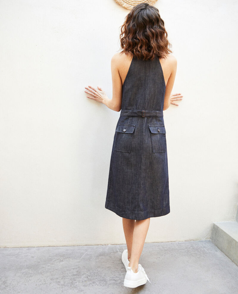 Denim pinafore dress Indigo Ibetta