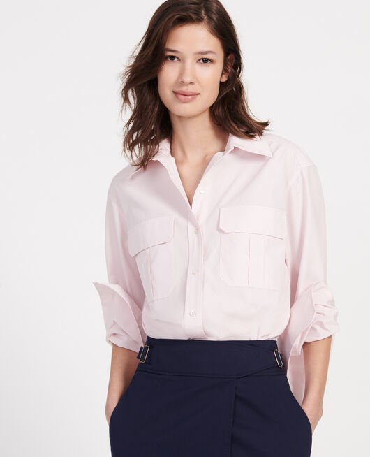 Cotton poplin shirt PRIMROSE PINK