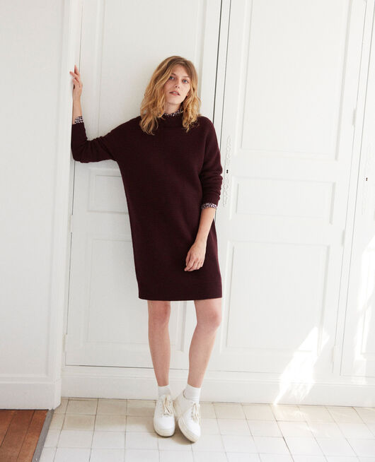 Knitted jumper dress FUDGE