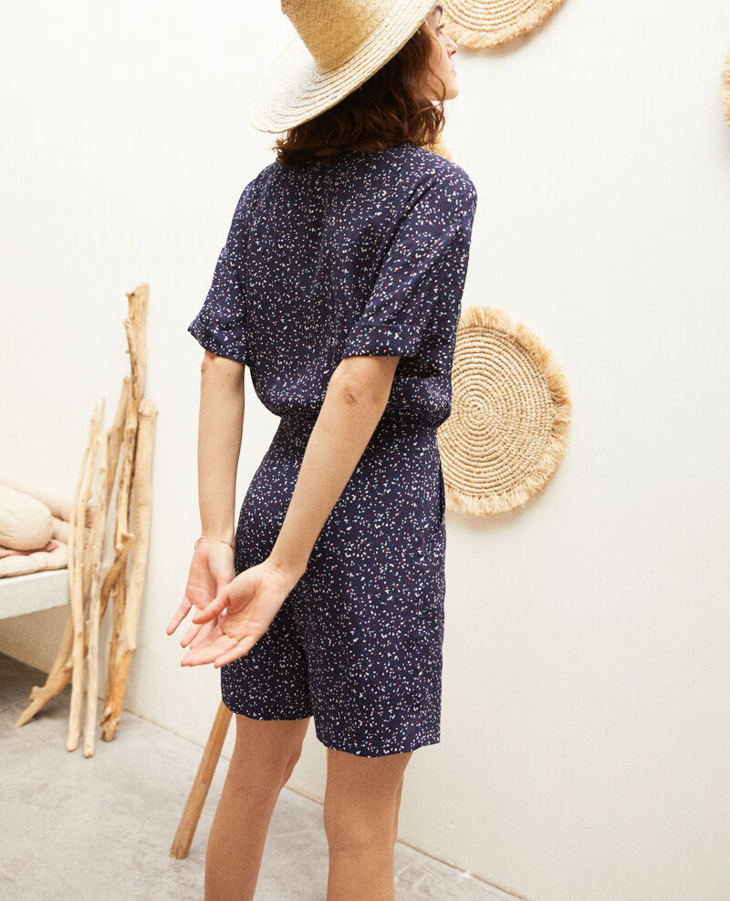 Wrap-over playsuit Confetti ink navy Issifi