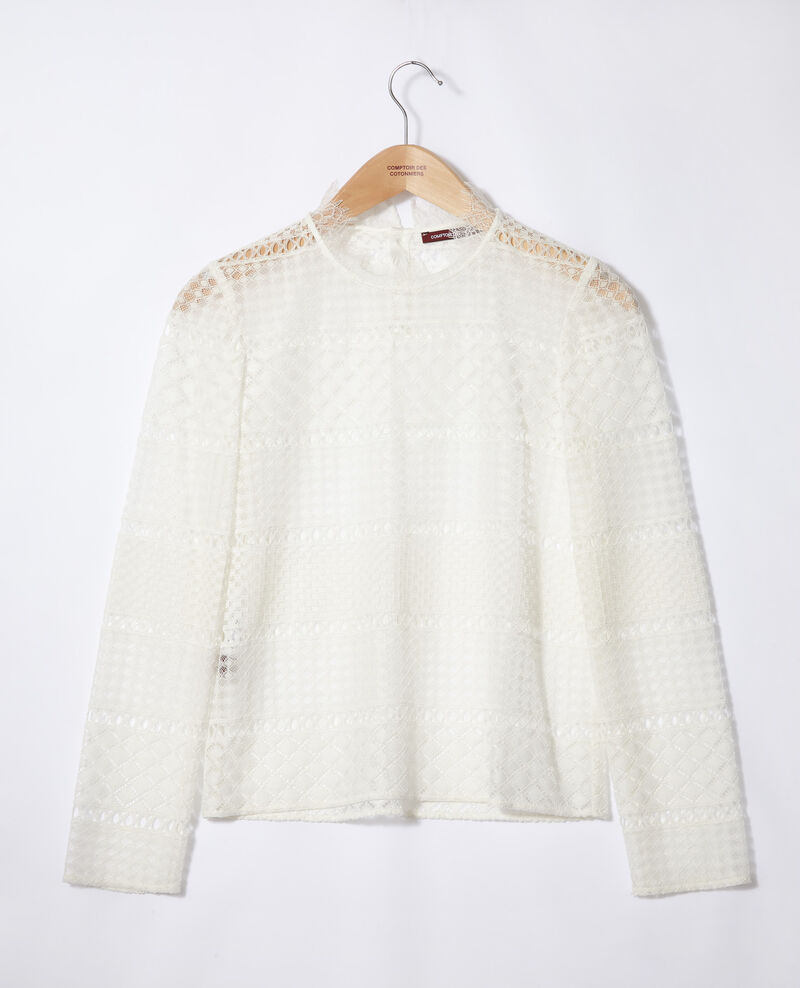 Openwork lace blouse White Garian