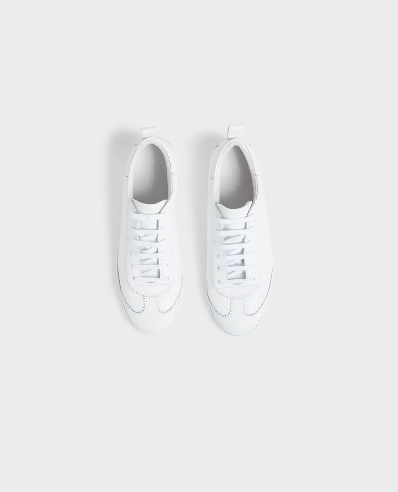 Lace-up leather sneakers Brilliant white Nouveau