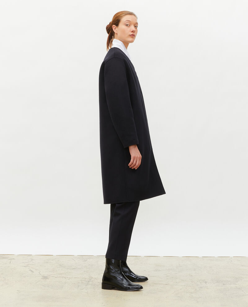 Double-sided wool coat Black beauty Muuck