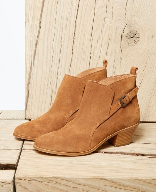 Suede Chelsea boots CAMEL