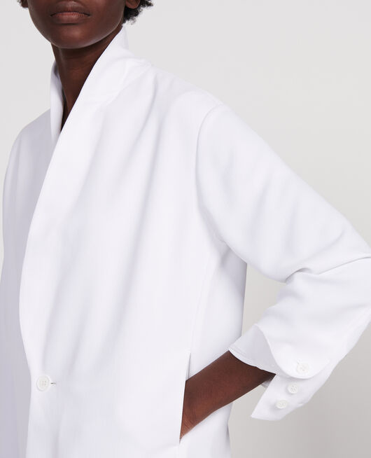 Tuxedo-style jacket OPTICAL WHITE