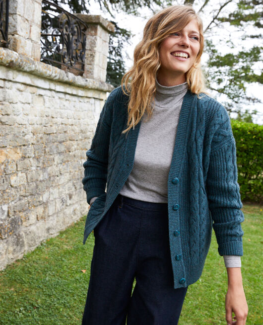 Cable-knit cardigan SCARAB