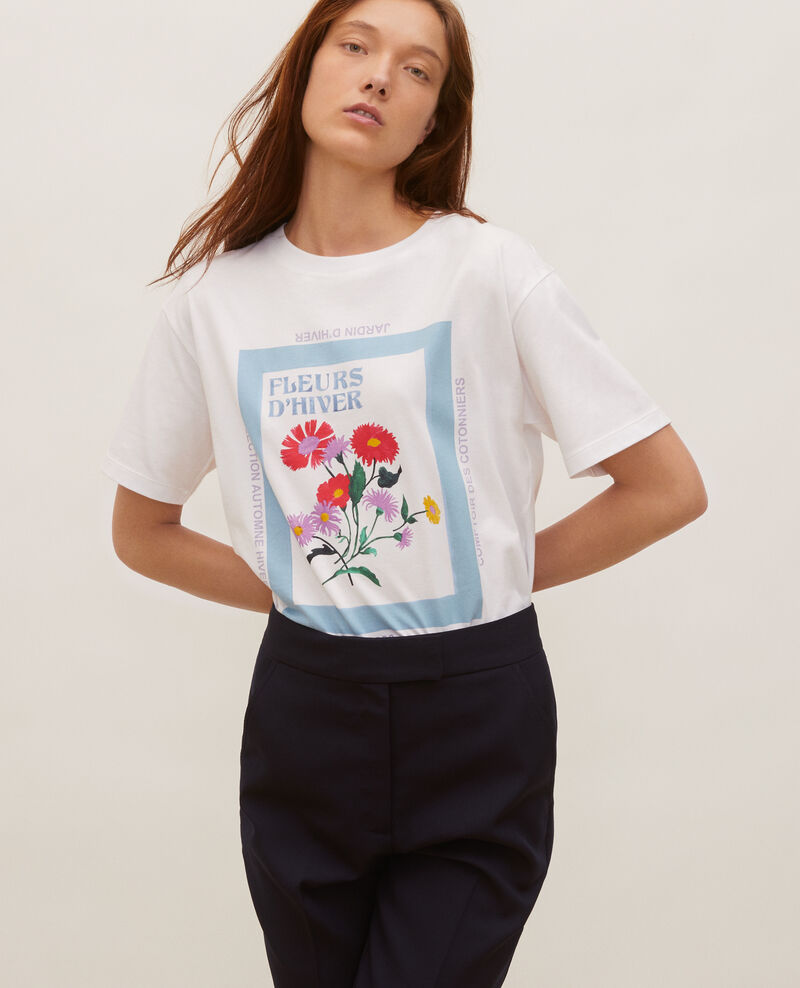 Wide cotton t-shirt Forget me not Masny